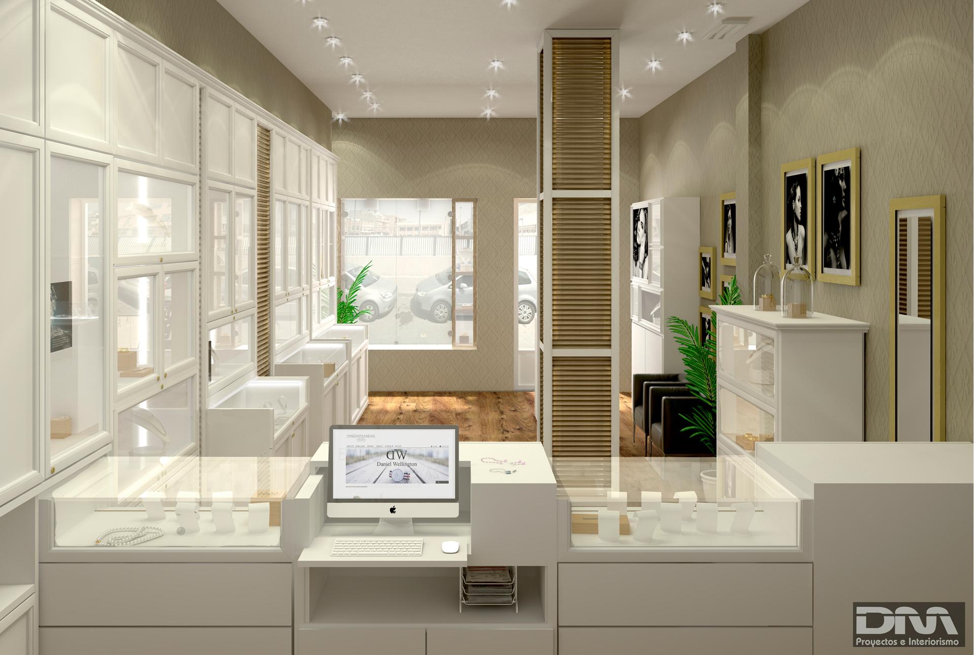 Charming Vista Interior Mostrador Proyecto Estudio Interiorismo Joyeria Emilio