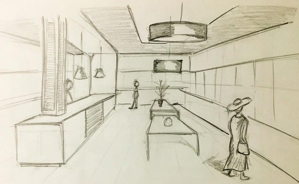 Fase de bocetaje en proyectos dise o de interiores valencia - Diseno de interiores valencia ...