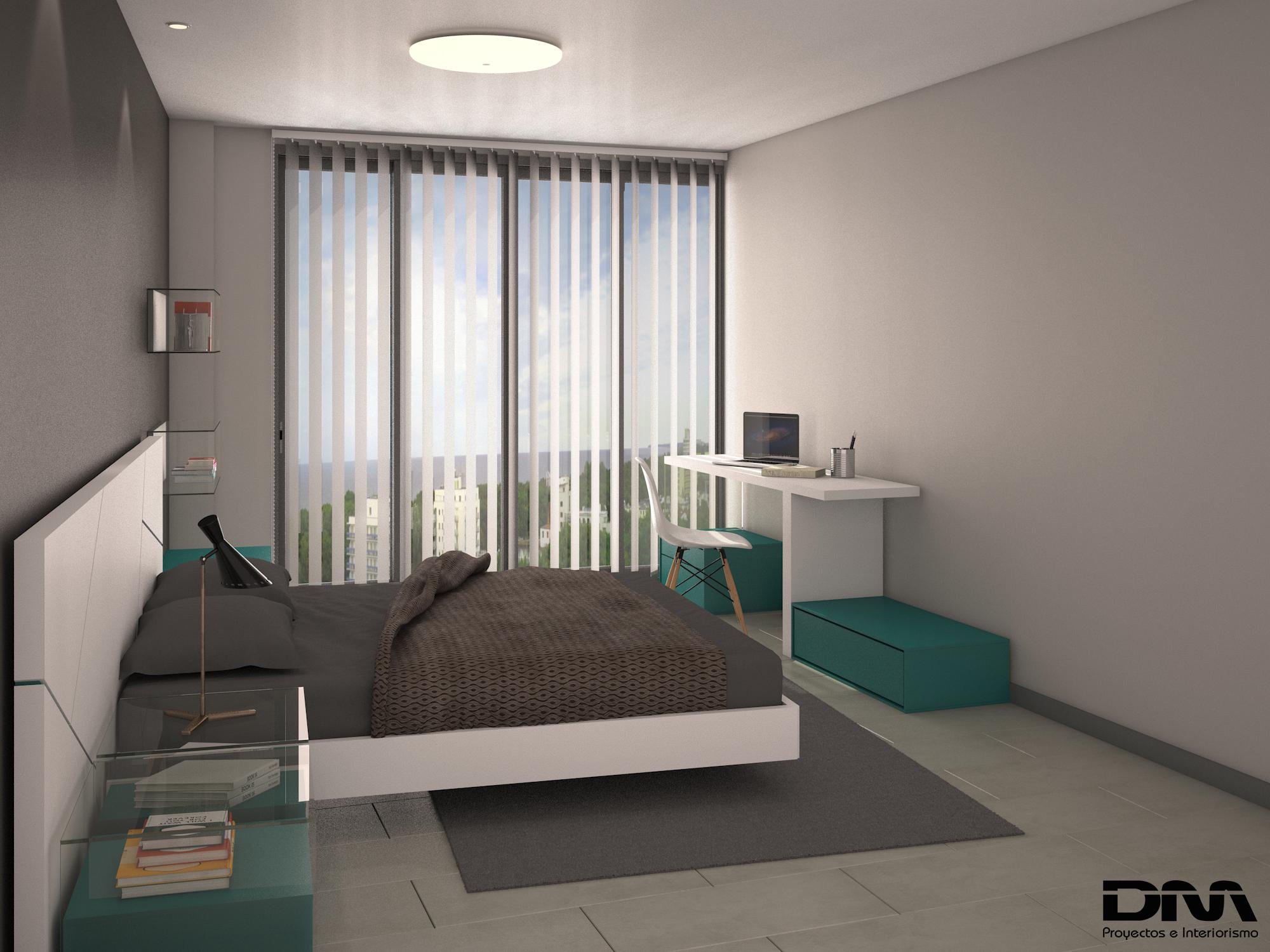 Proyectos de interiorismo 3d para viviendas en valencia - Habitacion juvenil diseno ...