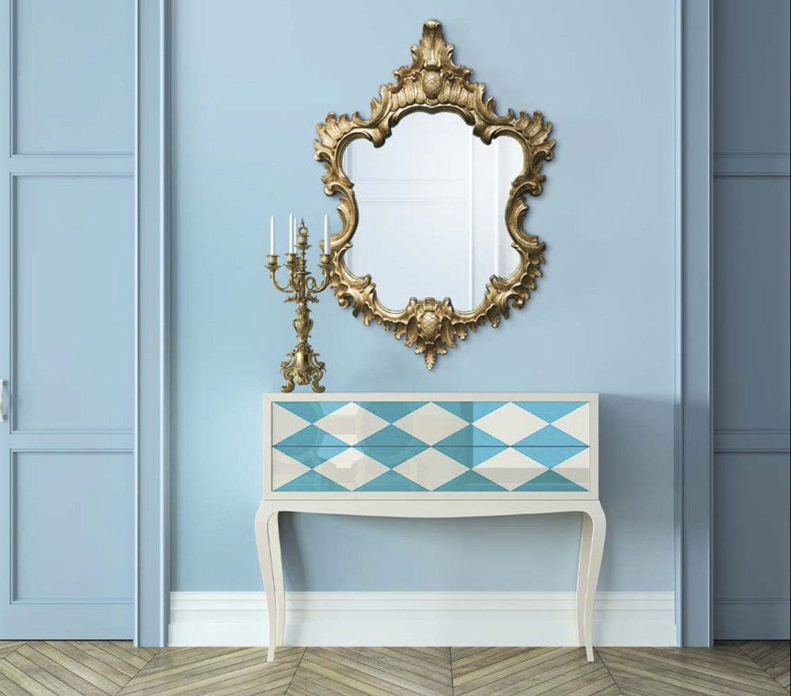 muebles-clasicos-salones-comoda-espejo-vintage