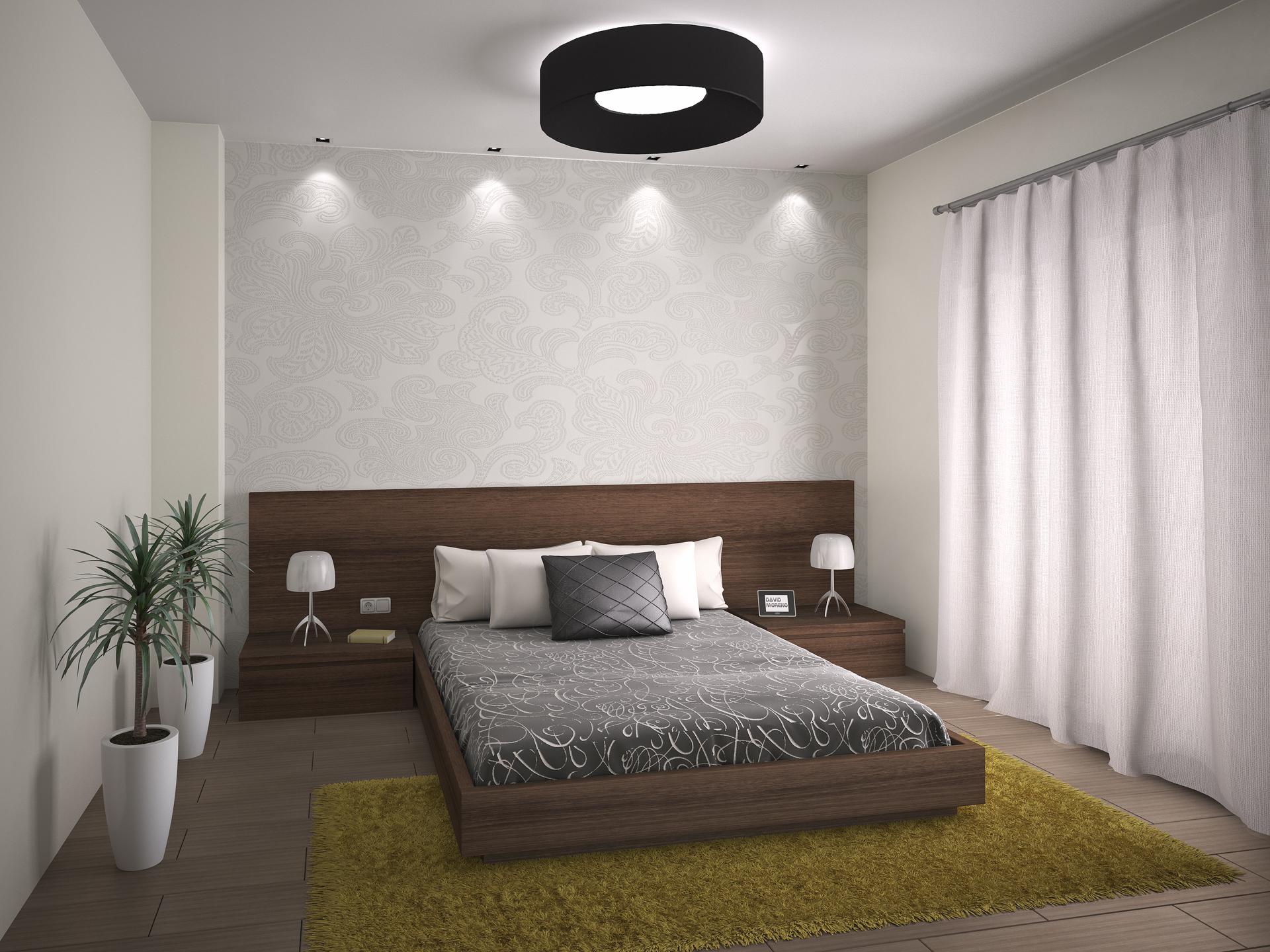 Proyecto de interiorismo en dormitorio. Habitación de matrimonio